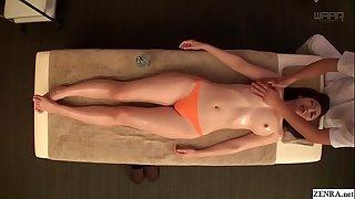 JAV star Asahi Mizuno CMNF erotic oil rubdown Subtitled