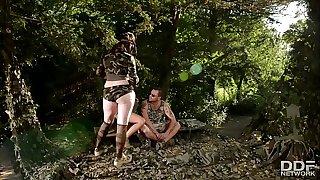 Big-titted Commando Team - Rescue Babes get Ass Screwed