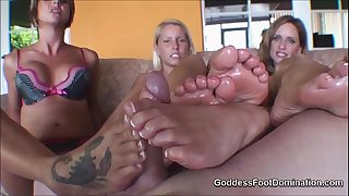 Footjob jizz shot compilation HD