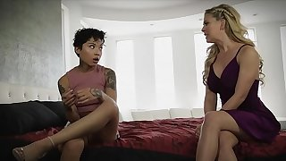 Stepmom teaching her stepdaughter about eating vagina