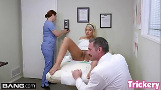 Trickery - MILF Bridgette B has sex with her thick hard-on doctor