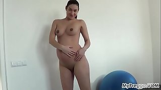 Pregnant Janetta Skips Her Exercise in Favor of Sucking Cock!