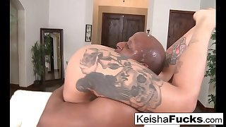 Pornstars Keisha and Kleio share a BBC