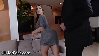 Busty Babe Lena Paul Gets Cummy Soles After Fuck