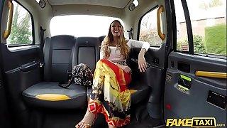 Fake Taxi Lovemaking maniac Stacey Saran fucks in taxi
