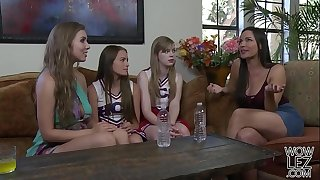 Lena Paul helps on her younger lesbian pal Scarlett Sage