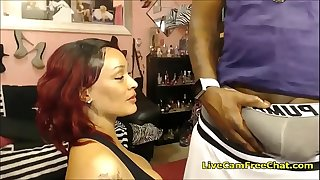 Curvy Ebony Nailed with Huge Black Cock