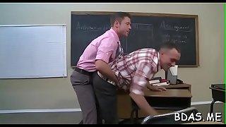 Athletic college guys enjoying gay anal in heavy scenes